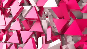 Geometric shape triangle motion background. Computer generated animation stock video
