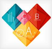 Geometric shaped option banner design template Royalty Free Stock Image