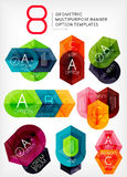 Geometric shaped option banners collection Stock Photo