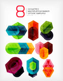 Geometric shaped option banners collection Stock Photos