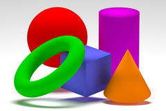 Geometric shapes Royalty Free Stock Photo
