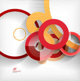 Geometric shapes abstract background Stock Image