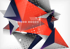 Geometric shapes abstract background Royalty Free Stock Photos