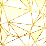 Geometric shapes. Abstract gold outline of polygon background. Gold glitter triangles. Vector illustration. Royalty Free Stock Images