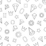 Geometric shapes. Abstract seamless vector pattern with isometric elements. 1980s-1990s Memphis style motifs. Retro design collection Royalty Free Illustration