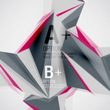 Geometric shapes in the air. Vector abstract Royalty Free Stock Image
