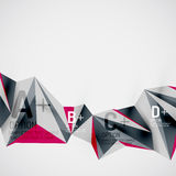 Geometric shapes in the air. Vector abstract Royalty Free Stock Images