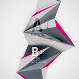 Geometric shapes in the air. Vector abstract Stock Photo