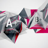 Geometric shapes in the air. Vector abstract Royalty Free Stock Photography