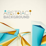 Geometric shapes in the air. Vector abstract Royalty Free Stock Photos