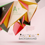 Geometric shapes in the air. Vector abstract Stock Images