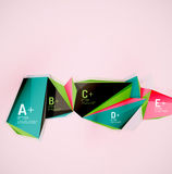 Geometric shapes in the air. Vector abstract Stock Image