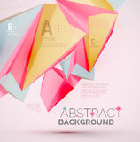 Geometric shapes in the air. Vector abstract Stock Photography