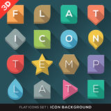 Geometric Shapes background for Flat Icons Set Stock Photography
