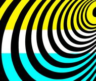 Geometric shapes background in turquoise, white, black and yellow. stock photography
