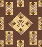 Geometric shapes on a brown background. Variegated geometric shapes on a brown background Royalty Free Illustration