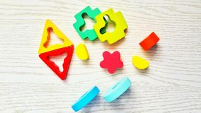 The geometric shapes. royalty free stock photography