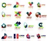 Geometric shapes company logo set, paper origami Stock Photo