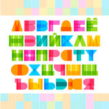 Geometric shapes cyrillic alphabet letters. Stock Photography