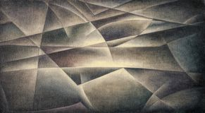 Geometric Shapes Dark Colours. Digital art by Afonso Farias and Denilson Bedin stock illustration
