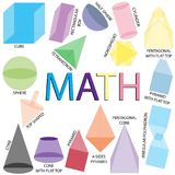 Geometric shapes design math  Royalty Free Stock Images