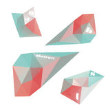 Geometric shapes for design. Polygonal geometric shapes. Set of design elements. Vector illustration Stock Images