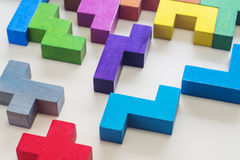 Geometric shapes in different colors. Stock Images