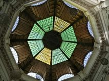 Geometric shapes, in a dome of a church in Romania. Geometric shapes dome church romania royalty free stock photography
