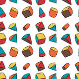 Geometric shapes. hand drawn vector seamless pattern Stock Photography