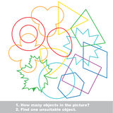 Geometric shapes mishmash colorful set in vector. Stock Image