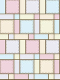Geometric shapes with ornaments. Pink, blue Royalty Free Stock Photos