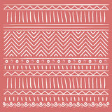 Geometric shapes over red background design Royalty Free Stock Photography