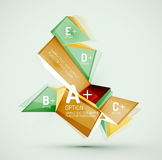 Geometric shapes with sample text. Abstract Stock Images