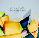 Geometric shapes with sample text. Abstract Stock Image