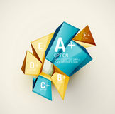 Geometric shapes with sample text. Abstract Stock Photography