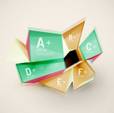 Geometric shapes with sample text. Abstract Royalty Free Stock Images