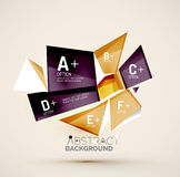 Geometric shapes with sample text. Abstract. 3d geometric shapes with sample text. Abstract template with place for text or infographic options. Triangles Royalty Free Stock Images