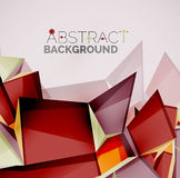Geometric shapes with sample text. Abstract Stock Photo
