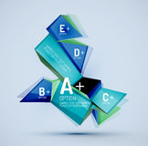 Geometric shapes with sample text. Abstract Stock Photos