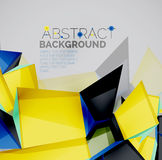 Geometric shapes with sample text. Abstract Royalty Free Stock Photos