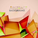 Geometric shapes with sample text. Abstract Royalty Free Stock Photo