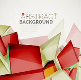 Geometric shapes with sample text. Abstract. 3d geometric shapes with sample text. Abstract template with place for text or infographic options. Triangles Stock Photos