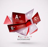 Geometric shapes with sample text. Abstract. 3d geometric shapes with sample text. Abstract template with place for text or infographic options. Triangles Stock Images