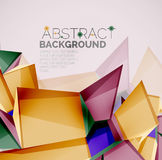 Geometric shapes with sample text. Abstract Royalty Free Stock Image