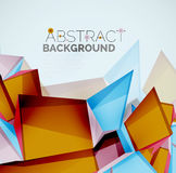 Geometric shapes with sample text. Abstract Royalty Free Stock Photography