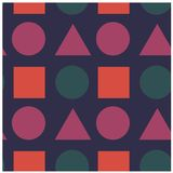 Geometric shapes seamless pattern. For web, textile and print Stock Images