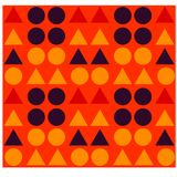Geometric shapes seamless pattern. For web, textile and print Royalty Free Stock Images