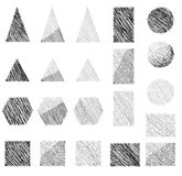 Geometric shapes set Stock Photos