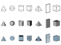 Geometric shapes Royalty Free Stock Photos