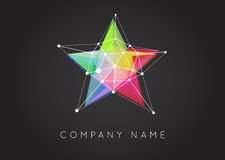 Geometric Shapes Unusual and Abstract  Vector Logo. Polygonal Co Royalty Free Stock Photos
